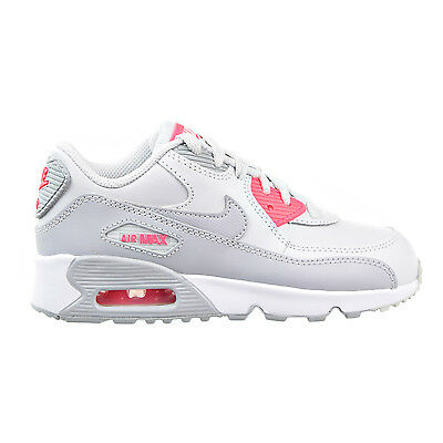Brand New Nike Air Max 90 LTR Pure Platinum Wolf Grey 833377-007 Pre-School Shoe