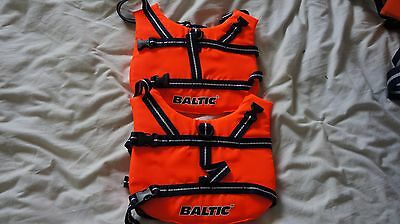 Dog life vests. x2 .Baltic made in Sweden. Suit dog up to 8KG.