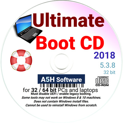 Ultimate Boot CD Revive, Restore, Repair, and Recovery - Windows XP Vista 7 8 10