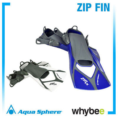 Sale! Aqua Sphere ZIP VX Fins Flippers (Pair) Swimming Snorkelling Swim Training