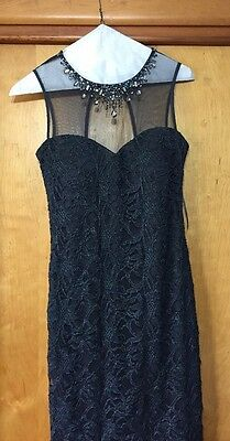 Mother Of The Bride Knee Length Dress Size 8 Tall Gray Davids Bridal