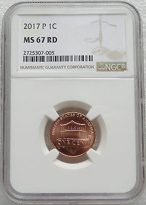 2017 P NGC MS 67 RD Lincoln Shield cent SUPERB GEM  Blazing Red - One Year Type