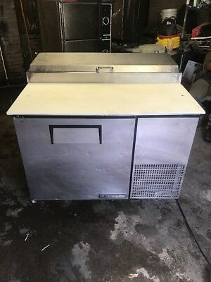 """True TPP-44 44"""" Commercial Pizza Prep Table Cooler Used"""