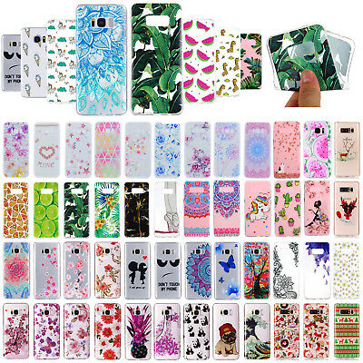 Slim Clear Soft Silicone TPU Rubber Case Cover for Samsung Galaxy S8/S8+/S7 Edge