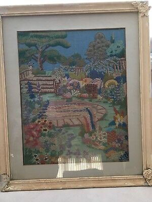 Large Embroidered Picture Early 20th Century
