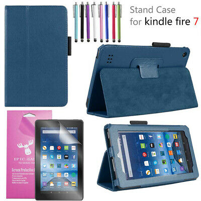 Amazon Fire 7 Leather Smart Case For All-New Amazon Fire 7 Tablet (7th Gen 2017)