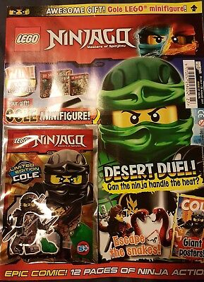LEGO Ninjago Magazine issue  27  26Jul - 29Aug With free  limited edition Cole