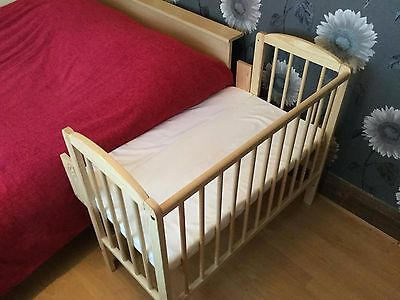 Baby Co Sleeper Cot Bed Side Next to me With FREE Mattress &  fitted sheet