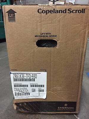 NEW Copeland ZR61K3E-TFD-930 Scroll Compressor 460 380/420 V POE R-22 62,000 BTU