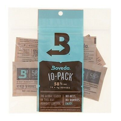 Boveda 58 Percent RH 2-Way Humidity Control 4 gram - 10 Pack
