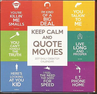 Keep Calm and Quote Movies, 2017 Daily Desktop Calendar