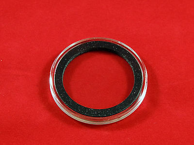 25 Airtite Coin Capsule Holders with Black Ring for American Silver Eagle, 40mm