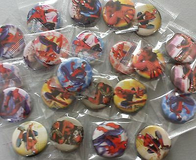 Spiderman Super Hero Badges - for party bags, fairs & gifts - from 1-30