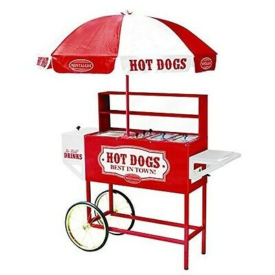 Hot Dog Cart with Umbrella Vending Appliance Electrical Cooking Novelty Party
