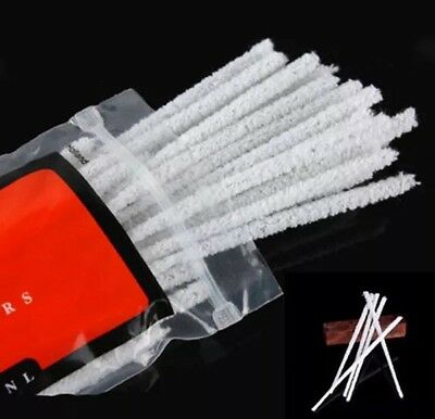 100 X Smoking PIPE CLEANERS Extra Absorbent 100% Cotton CHENILLE STICKS