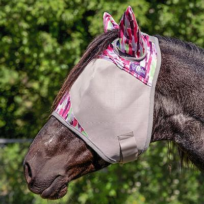 Cashel Designer Fly Mask With Ears - Horse - Pink Watercolor