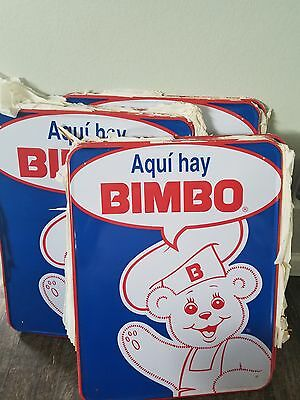 RARE NOS Bimbo Bread Sold Here ( Aqui Hay ) Tin advertising sign Embossed