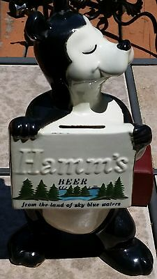 1950's Hamms Beer Red Wing Bear Bank