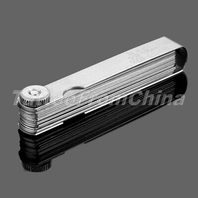Carbon Steel Feeler Gauge 32 Blades Metric Inch Dual Reading Measuring Tool t8fc
