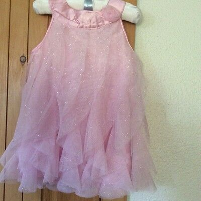 Baby Girl's 24 Month Pink Healthtex Tulle Layered Glittery Dress