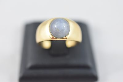 Ring Ladies 18ct Yellow Gold Star Sapphire Set Ring