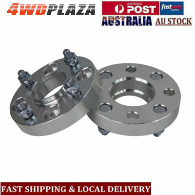 2PCS 4 Studs 25mm 4x114.3 12x1.25 Wheel Spacers For Nissan