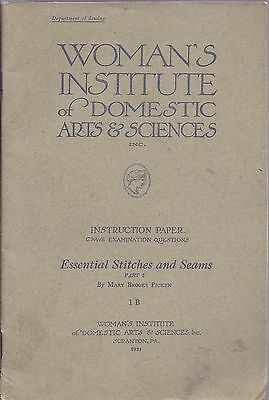Lot of 3 WOMAN'S INSTITUTE OF DOMESTIC ARTS 1921