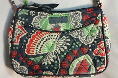Vera Bradley Little Crossbody Small Purse Handbag Shoulder Bag in Nomadic Floral