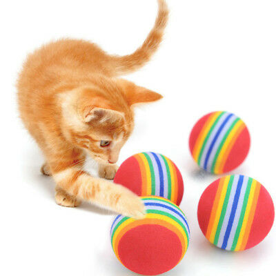 10Pcs Rainbow Jouet Ball Small Pet Dog Puppy Cat Eva Chew Toys Playing Ballon