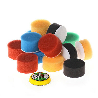16Pcs 2 Inch Flat Polishing Buff Pad Set For Air Sander Polisher -Select Thread