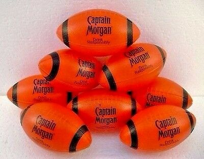 Football Captain Morgan Mini Red and Black Plastic Lot of 8 New Old Stock