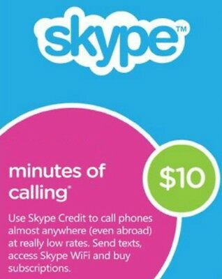 SKYPE Credits $10 (AUD) Instant delivery