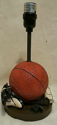 Basketball Themed Lamp Base, No Shade, Excellent Condition, Tested
