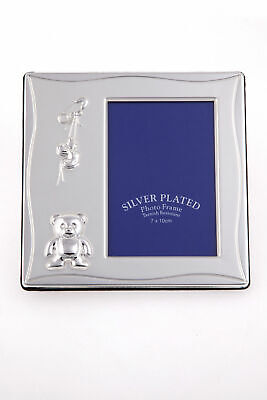 Bulk 10 Baby Photo Frames/Favours, Quality Silver Plated Chistening  Keepsake