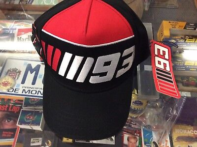 Mark Marquez Embroidered Cap #93 Black And Red Round Peak