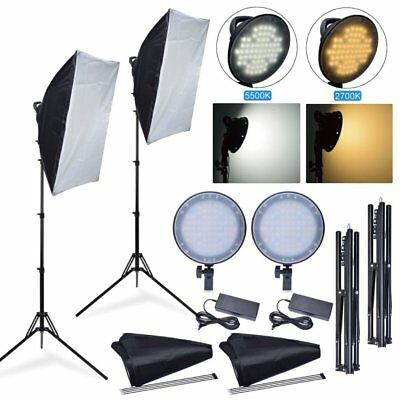 Fotoconic 45W 2700K 5500K LED Dimmable Studio Photo Light + Softbox + Stand Kit