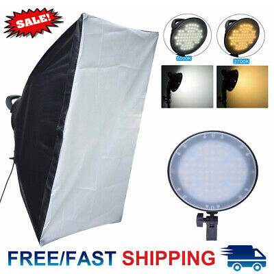 Fotoconic 45W 2700K 5500K 126 LED Dimmable Studio Photo Light w/ 50x70cm Softbox