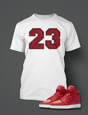 cedc984034e 23 T shirt To match AIR JORDAN 1 RED Cement Shoe Graphic T Shirt Big Tall