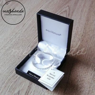 Equilibrium Silver Plated Christening Heart Bangle - Baby - Gift Boxed