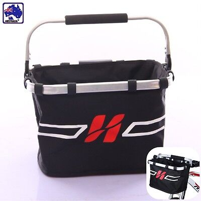 Bicycle Front Basket Foldable Bike Handlebar Bag Detachable Carrier  OBIK74215