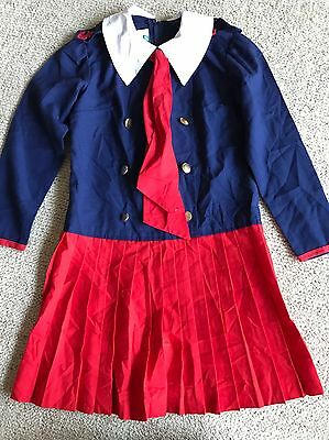 Vintage Girls Sailor Dress 'Styled By Eve' Size 8 Height 130cm Waist 60cm