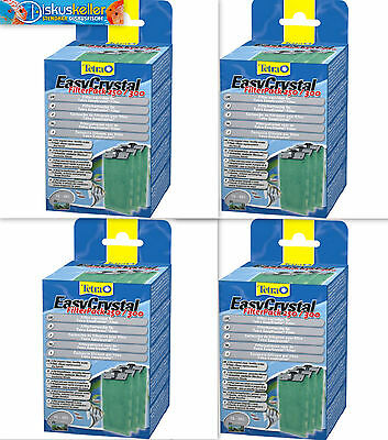 4 x Tetra Tetratec EasyCrystal Filtre Pack 250 / 300 Marchandises neuves