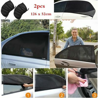 2xUniversal Car Sun Shade Cover for Rear Side Window Provides Max UV Protection
