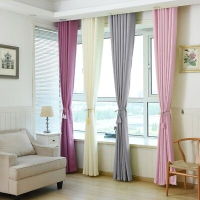 Blackout Room Darkening Curtains Window Panel Drapes Sheer Scarf Valances Lot