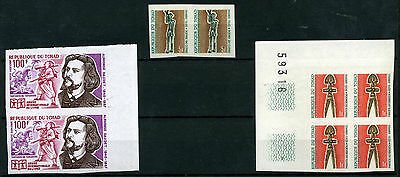 1969 Tchad Lot Of Imperforated E350/51