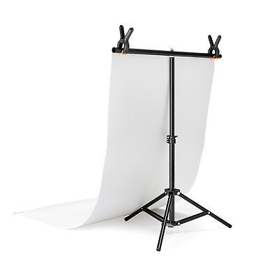 White Vinyl Backdrop & T-Stand Set | 60x130cm | Tabletop Background Crease Free