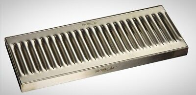 Krome Dispense C606 Stainless Steel Drip Tray Surface No Drain 12 x 5 1.2 New