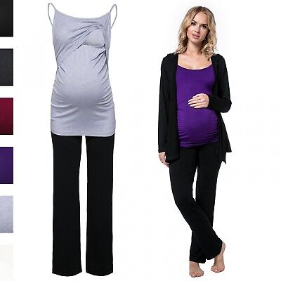 Happy Mama Women's Maternity Pregnancy Nursing Tracksuit Comprising Jacket. 688p
