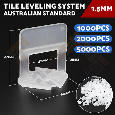 600-2000 PCS Tile Leveling System Clips Wall Floor Tile Spacer Tiling Tool 1.5mm