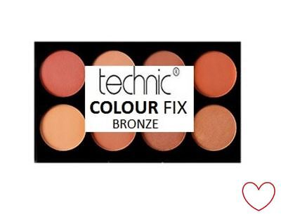 Make Up Palette Kit Contour Powder Cream Bronzer Technic Colour Fix